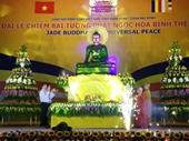 Nghìn người đón tượng Phật ngọc lớn nhất thế giới ở Bái Đính
