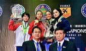 Việt Nam đoạt hai HC vàng tại giải vô địch karate trẻ châu Á