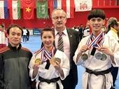 Taekwondo Việt Nam giành bốn HC vàng trên đất Pháp