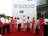 Lễ đặt tên đường Nguyễn Cơ Thạch tại Thành phố Hồ Chí Minh