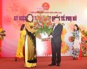 Lãnh đạo VKSNDTC chúc mừng ngày Quốc tế Phụ nữ 8 3