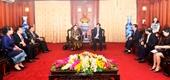 Lãnh đạo VKSNDTC tiếp Chủ nhiệm Ủy ban Tư pháp của Quốc hội Lào