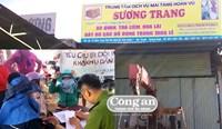 Người dân phản đối cơ sở bột liệm Sương Trang gây ô nhiễm môi trường