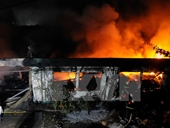 Hà Nội Cháy lớn tại thị trấn Xuân Mai, hai người tử vong